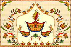 Happy Diwali background with diya Royalty Free Stock Image