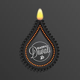Happy Diwali background. Diwali diya oil lamp for your greeting card design royalty free illustration