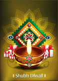 Happy diwali background with gifts Royalty Free Stock Image