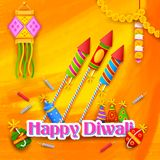 Happy Diwali Background Stock Photo