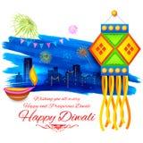 Happy Diwali background kandil Stock Image