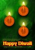 Happy Diwali background watercolor diya Royalty Free Stock Image