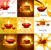 Happy diwali beautiful 9 collection. Presentation colorful hindu festival background illustration stock illustration