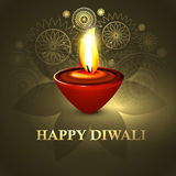 Happy diwali beautiful diya colorful hindu festiva. L background illustration