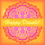 Happy Diwali card. Indian festival of lights Stock Photography