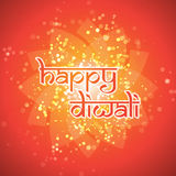 Happy Diwali Card - Vector Background Illustration Stock Photos