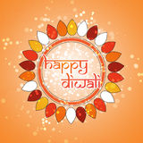 Happy Diwali Card - Vector Background Illustration Stock Photo