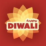 Happy Diwali Card - Vector Background Illustration Royalty Free Stock Images