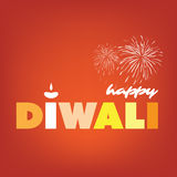 Happy Diwali Card - Vector Background Illustration Stock Images
