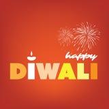 Happy Diwali Card - Vector Background Illustration Stock Images