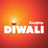 Happy Diwali Card - Vector Background Illustration Royalty Free Stock Photos