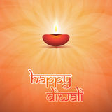 Happy Diwali Card - Vector Background Illustration Stock Photography