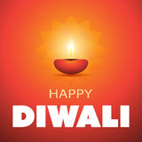 Happy Diwali Card - Vector Background Illustration Royalty Free Stock Photography