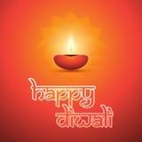Happy Diwali Card - Vector Background Illustration Stock Image