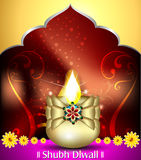 Happy diwali celebration background with deepak Stock Photos