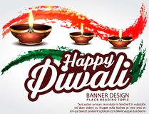 Happy Diwali Celebration Background with Deepak Stock Images
