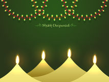 Happy Diwali celebration background with Oil Lamps. Shubh Deepawali (Happy Deepawali or Diwali) festive background with stylized glossy paper Oil Lamps (Diya) Royalty Free Stock Images