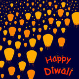 Happy Diwali celebration background. In vector Royalty Free Stock Image