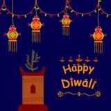 Happy Diwali celebration background. In vector Royalty Free Stock Photo