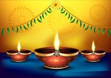 Happy diwali celebration background. Vector illustration Royalty Free Stock Photography