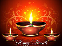 Happy diwali celebration background. Vector illustration Stock Images