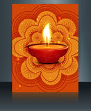 Happy diwali celebration brochure card template  Stock Photo
