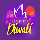 Happy Diwali, celebration of happy Deepavali light and fire fest. Ival, vector illustration greeting or invitation card design Stock Images