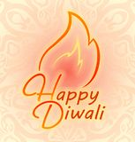 Happy Diwali colorful decor for Indian festival of fires. Happy Diwali colorful decor for Indian festival of fires Stock Image