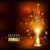 Happy diwali crackers Stock Photography