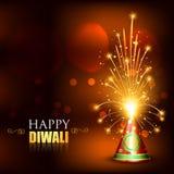 Happy diwali crackers Stock Photography