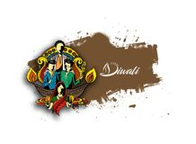 Happy Diwali creative background for Diwali festival. Hand Drawn Sketch, Vector Background Royalty Free Stock Photo