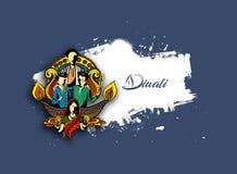 Happy Diwali creative background for Diwali festival. Hand Drawn Sketch, Vector Background Stock Photos