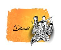 Happy Diwali creative flyer for Diwali festival. Vector illustration Stock Photo