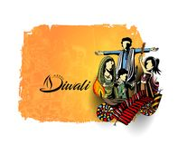 Happy Diwali creative flyer for Diwali festival. Vector illustration Royalty Free Stock Image