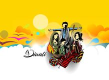 Happy Diwali creative flyer for Diwali festival. Vector illustration Royalty Free Stock Photo