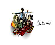 Happy Diwali creative flyer for Diwali festival. Stock Image