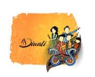 Happy Diwali creative flyer for Diwali festival. Vector illustration Stock Images