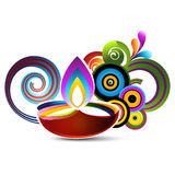 Happy diwali design Stock Image