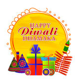 Happy Diwali Dhamaka Poster, Banner or Flyer. Stock Images