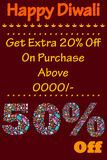 Happy Diwali discount sale promotion Stock Images