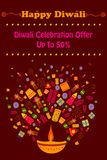 Happy Diwali discount sale promotion Stock Photography