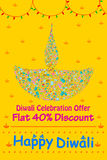 Happy Diwali discount sale promotion. Offer banner in vector
