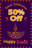 Happy Diwali discount sale promotion Royalty Free Stock Photo