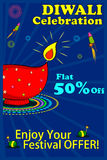 Happy Diwali discount sale promotion Royalty Free Stock Photos