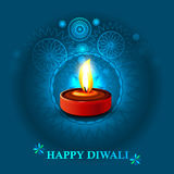 Happy diwali diya celebration background Royalty Free Stock Photos