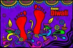 Happy Diwali diya in Indian art style Stock Image