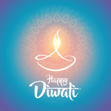 Happy diwali diya oil lamp design Stock Photography