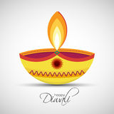 Happy Diwali Diya oil lamp. Festival of lights Deepavali. Happy Diwali abstract background. Vector illustration of Diya oil lamp for your greeting card design royalty free illustration