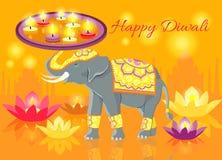 Happy Diwali Elephant Indian Celebrate Royalty Free Stock Image