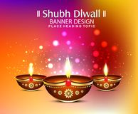 Happy diwali festival backgound with bokeh effect Stock Image